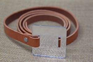 Leather Belt - Maroon and Mirror
