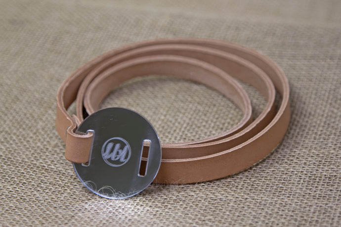 Leather Belt - Brown and Mirror