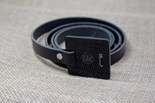 Leather Belt - Black and Black