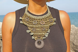Crochet Necklace - Green