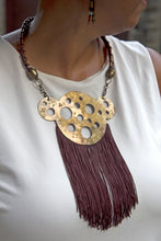 Handmade Necklace - Brass with Fringes