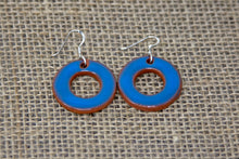 Ceramic Hoop Earrings - Sky Blue