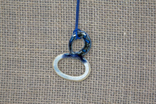 Ceramic Necklace - Blue/Cream
