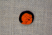 Ceramic Fashion Brooch - Black/Orange