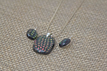 Fused Glass Earrings & Pendant Set - Black Confetti