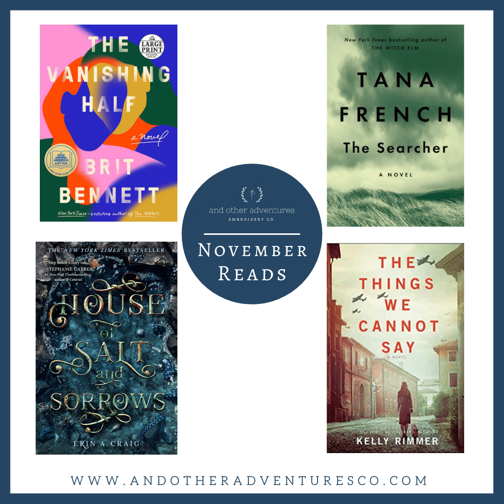 November 2020 Reads - And Other Adventures Embroidery Co
