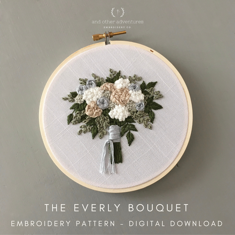 The Everly Bouquet Embroidery Pattern