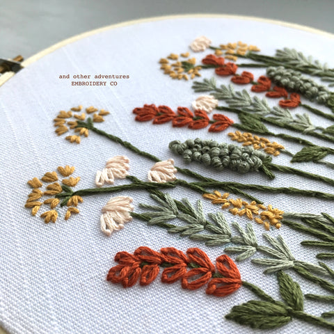 New Hand Embroidery Kit - Autumn Meadow