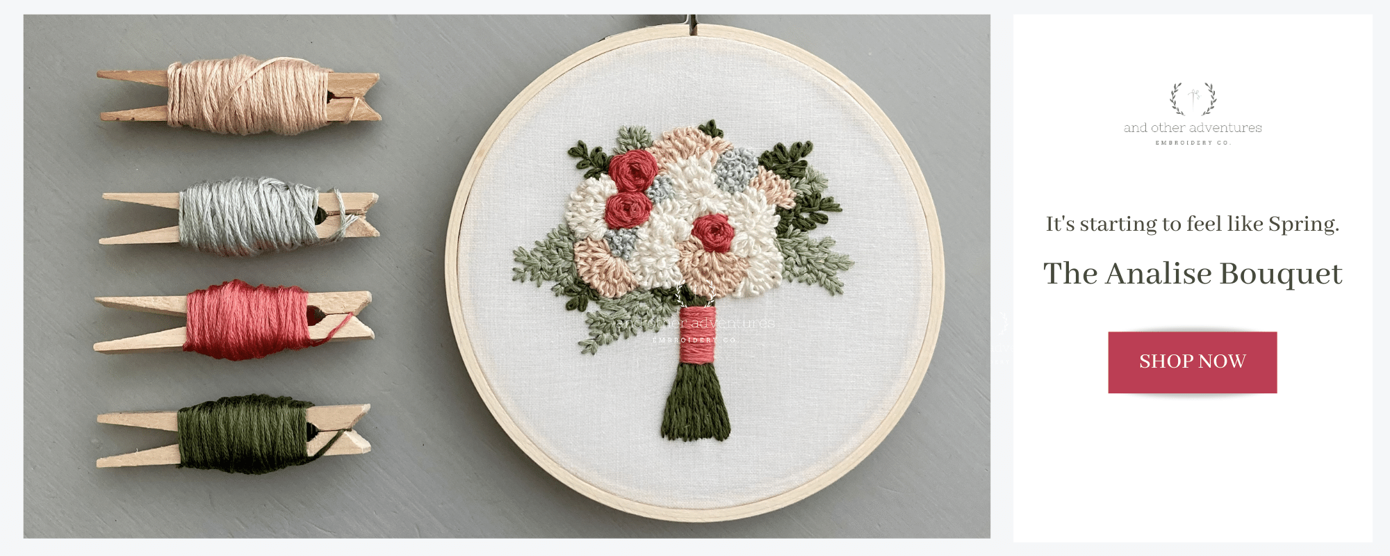 The Analise Bouquet - It's starting to feel like spring. - And Other Adventures Embroidery Co