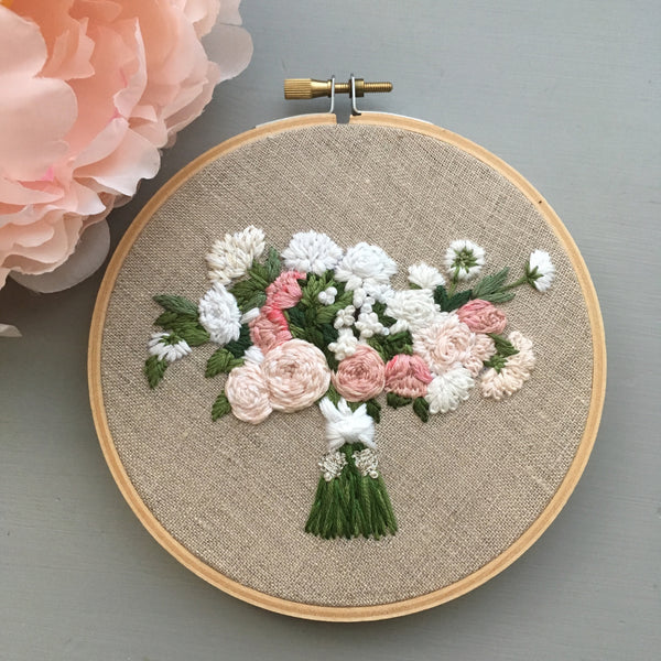 Embroidered bridal bouquet