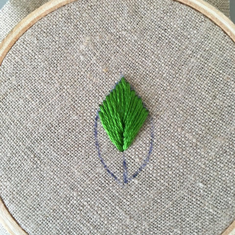 Leaf Stitch created by And Other Adventures Embroidery Co