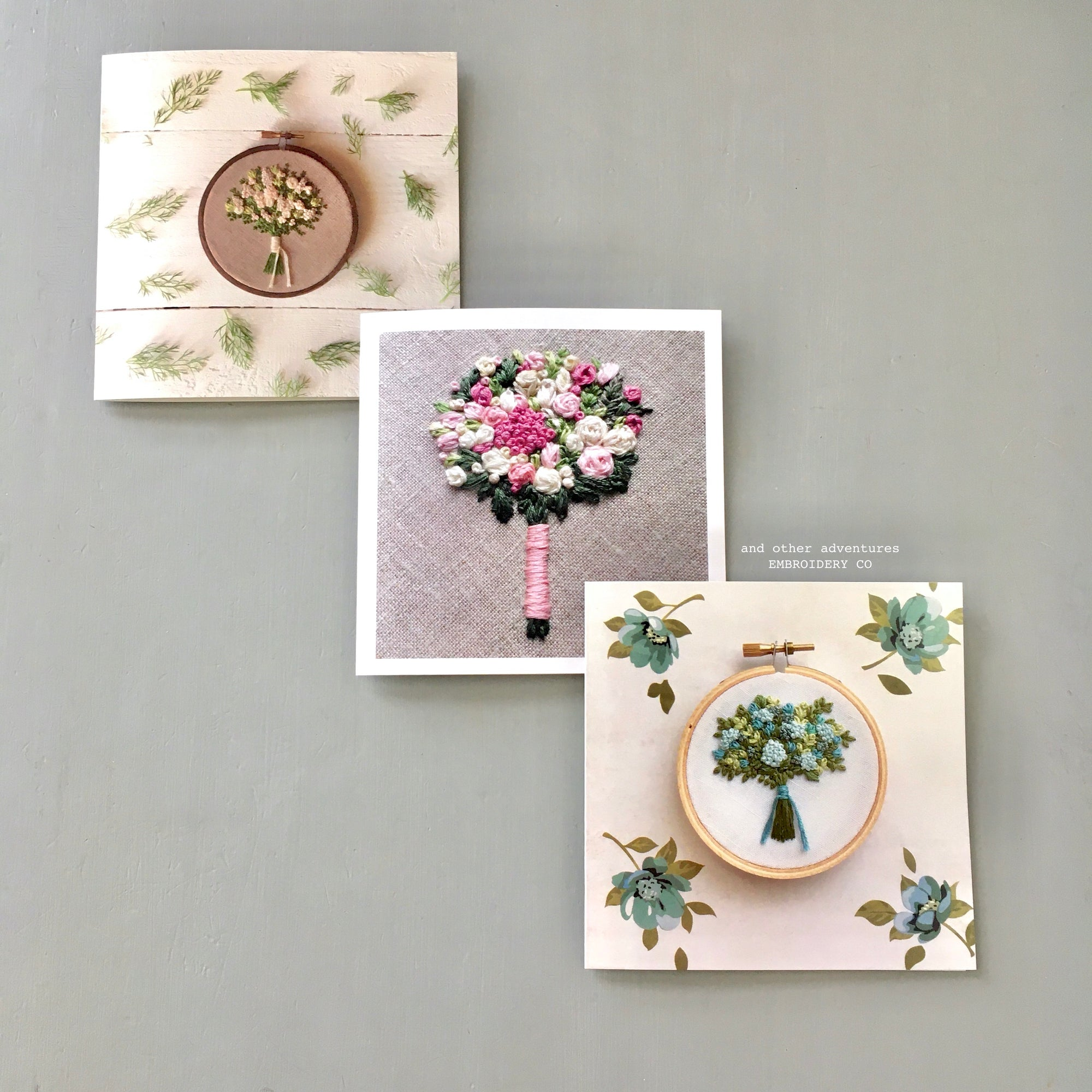 Embroidery Inspired Note Cards by And Other Adventures Embroidery Co