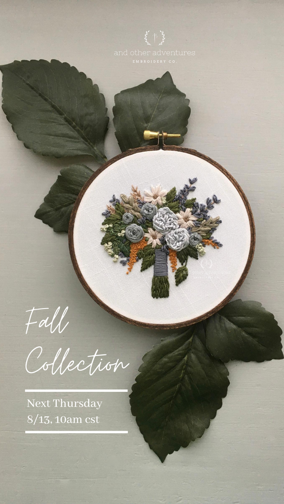 The Fall Collection is Coming Soon! - And Other Adventures Embroidery Co