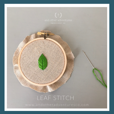 Leaf Stitch Tutorial by And Other Adventures Embroidery Co