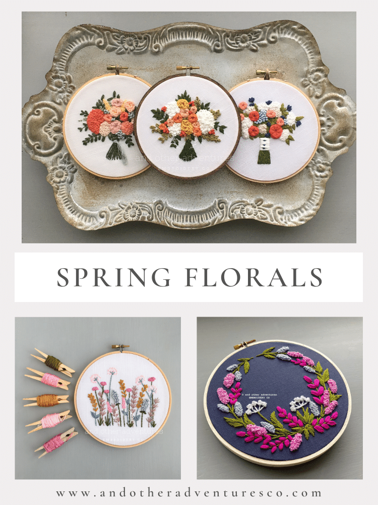 Spring Florals - DIY Hand Embroidery Crafts by And Other Adventures Embroidery Co