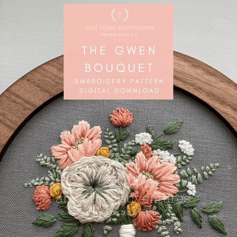 The Gwen Bouquet - Advanced Hand Embroidery PDF Pattern | And Other Adventures Embroidery Co