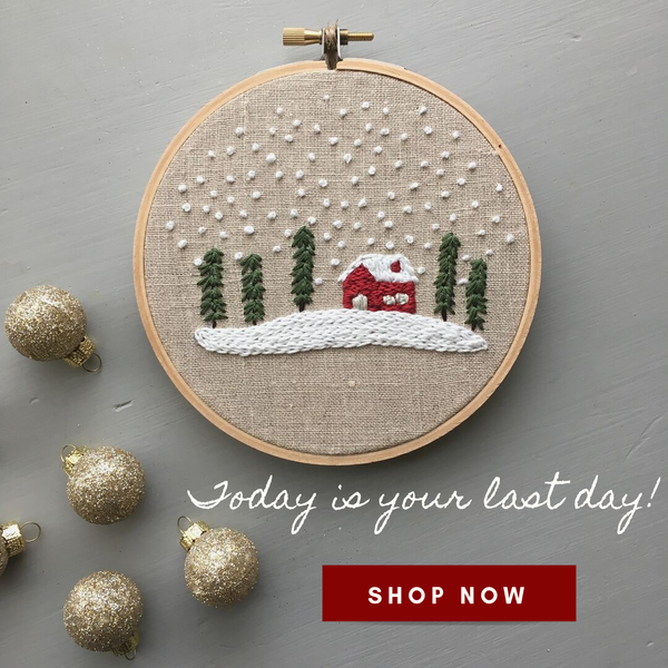 Holiday Shipping Deadline - And Other Adventures Embroidery Co