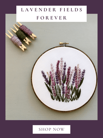 Lanvender Fields Forever - digital hand embroidery pattern   And Other Adventures Embroidery Co