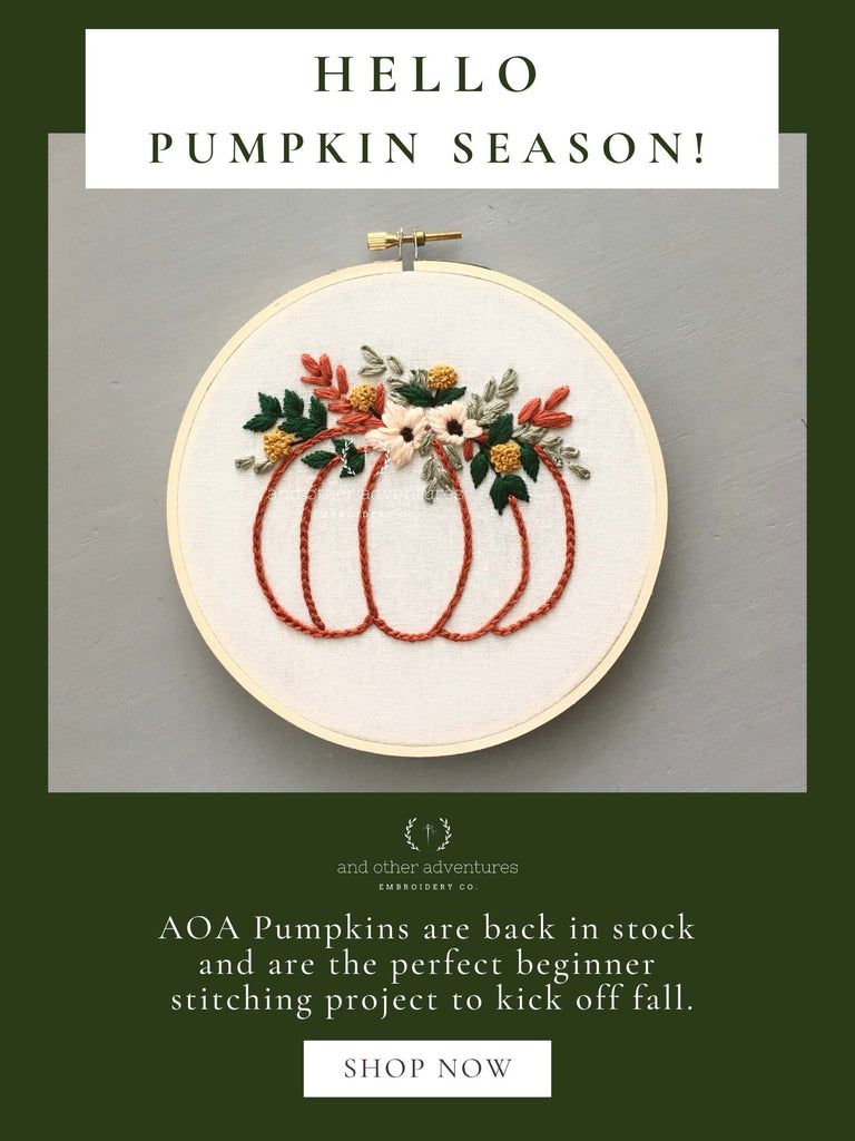 Hello Pumpkin Season! | And Other Adventures Embroidery Co