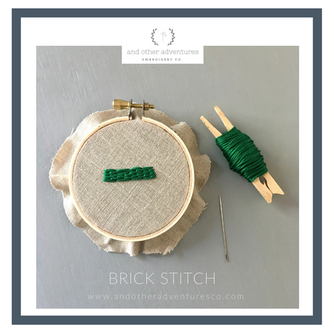 Brick Stitch Hand Embroidery Tutorial - And Other Adventures Embroidery Co