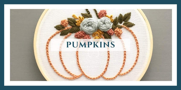 Pumpkin Collection - Embroidery Kit + Digital Patterns | And Other Adventures Embroidery Co