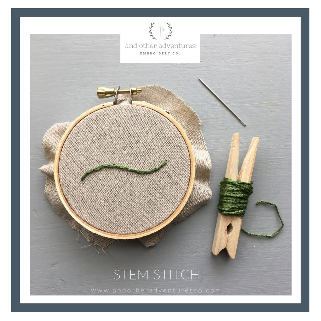 Stem Stitch Tutorial And Other Adventures Embroidery Co