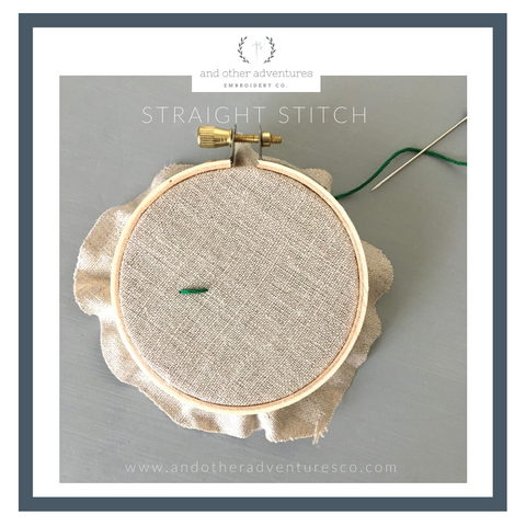 Straight Stitch Tutorial - And Other Adventures Embroidery Co