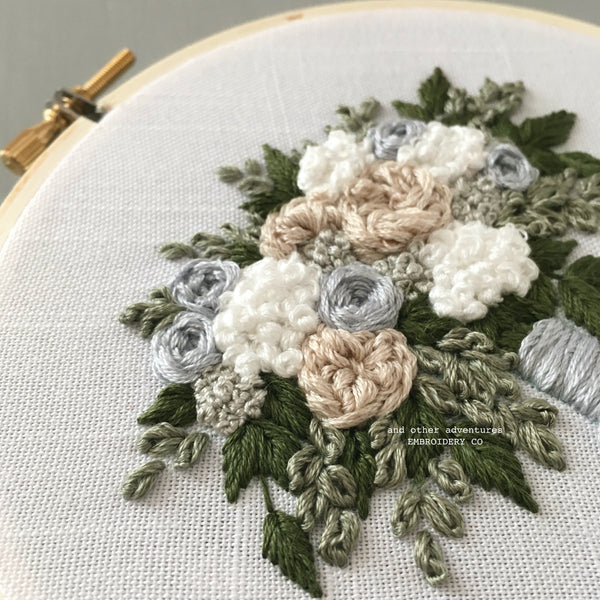 The Everly Bouquet Hand Embroidery Pattern by And Other Adventures Embroidery Co - The Bloom Collection