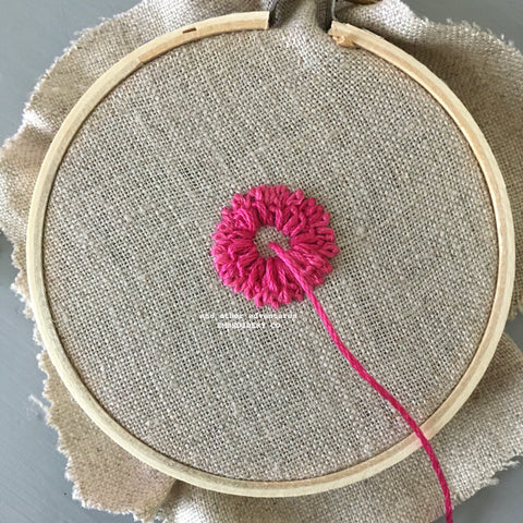 How to do Layered Daisy Stitch by And Other Adventures Embroidery Co