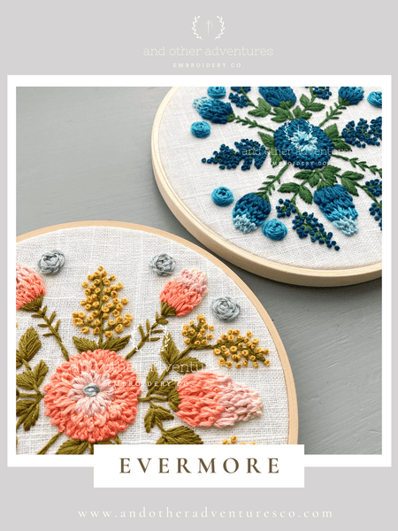EVERMORE embroidery design | And Other Adventures Embroidery Co