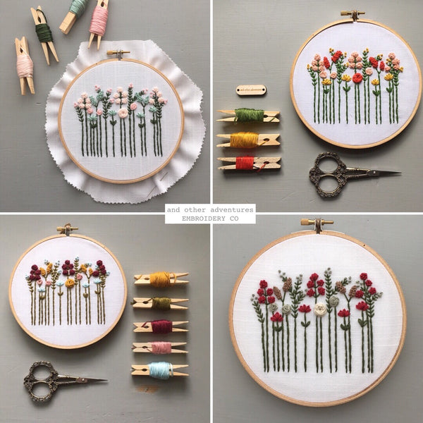Wildflower Embroidery Kit for Beginners by And Other Adventures Embroidery Co