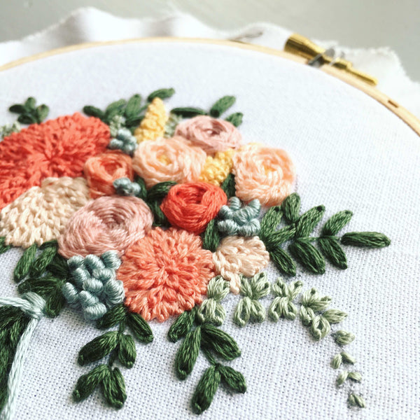 embroidered bouquet by And Other Adventures Embroidery Co