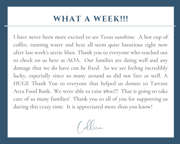 What a Week - Texas Winter Storm 2021