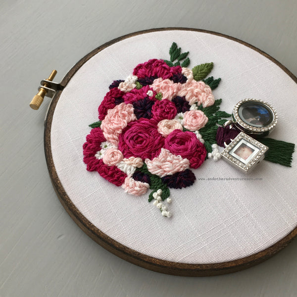 Embroidered Wedding Bouquet by And Other Adventures Embroidery Co