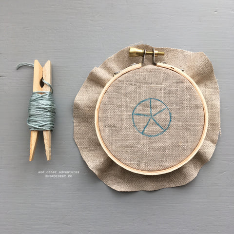 And Other Adventures Embroidery Co Woven Wheel Stitch
