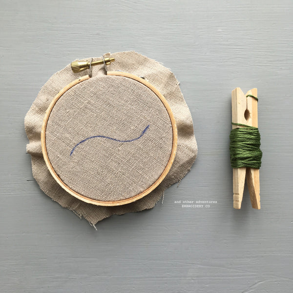 Stem Stitch Embroidery by And Other Adventures Embroidery Co