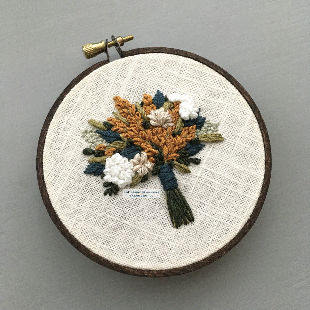 Embroidered Fall Florals Original Art | And Other Adventures Embroidery Co