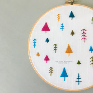 Embroidered Christmas Tree Hoop Art by And Other Adventures Embroidery Co