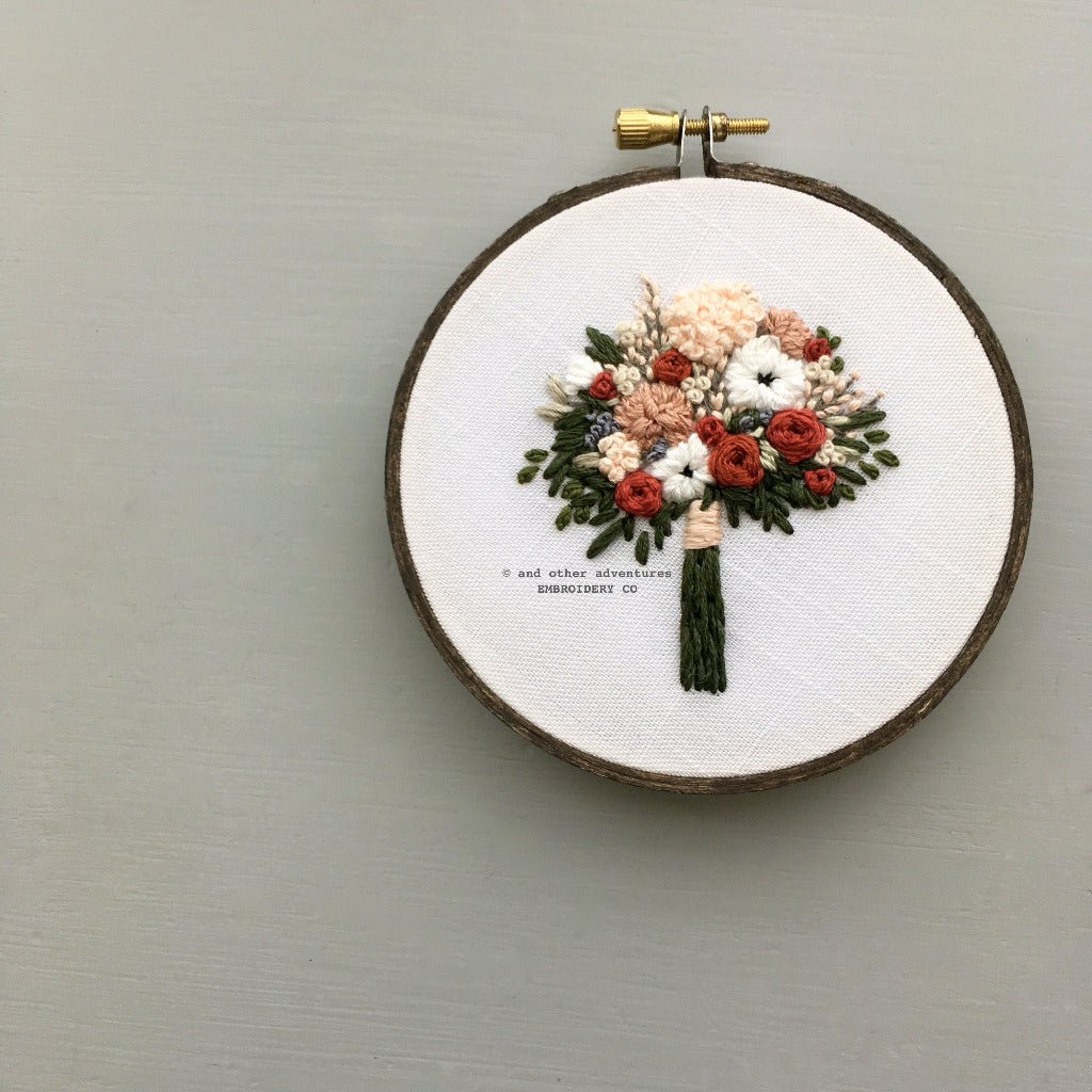 Hand Embroidered Bouquet Hoop Art | And Other Adventures Embroidery Co