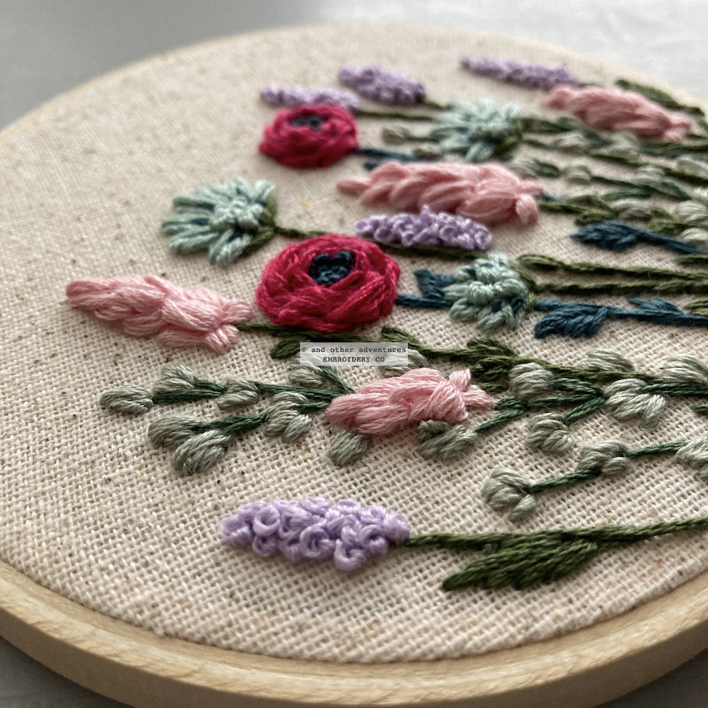 Hand Embroidered Spring Flowers Hoop Art | And Other Adventures Embroidery Co