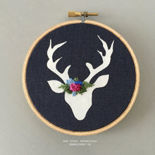 Stocking Stuffer - Woodland Deer Ornament for Christmas Tree by And Other Adventures Embroidery Co