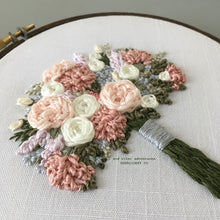 Delicately hand embroidered floral details Hoop Art by And Other Adventures Embroidery Co