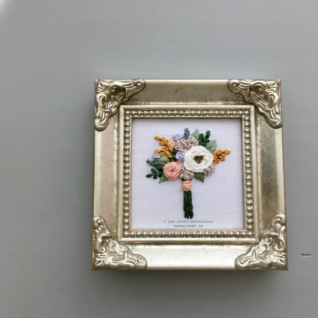 Framed Bouquet Embroidery Art | And Other Adventures Embroidery Co