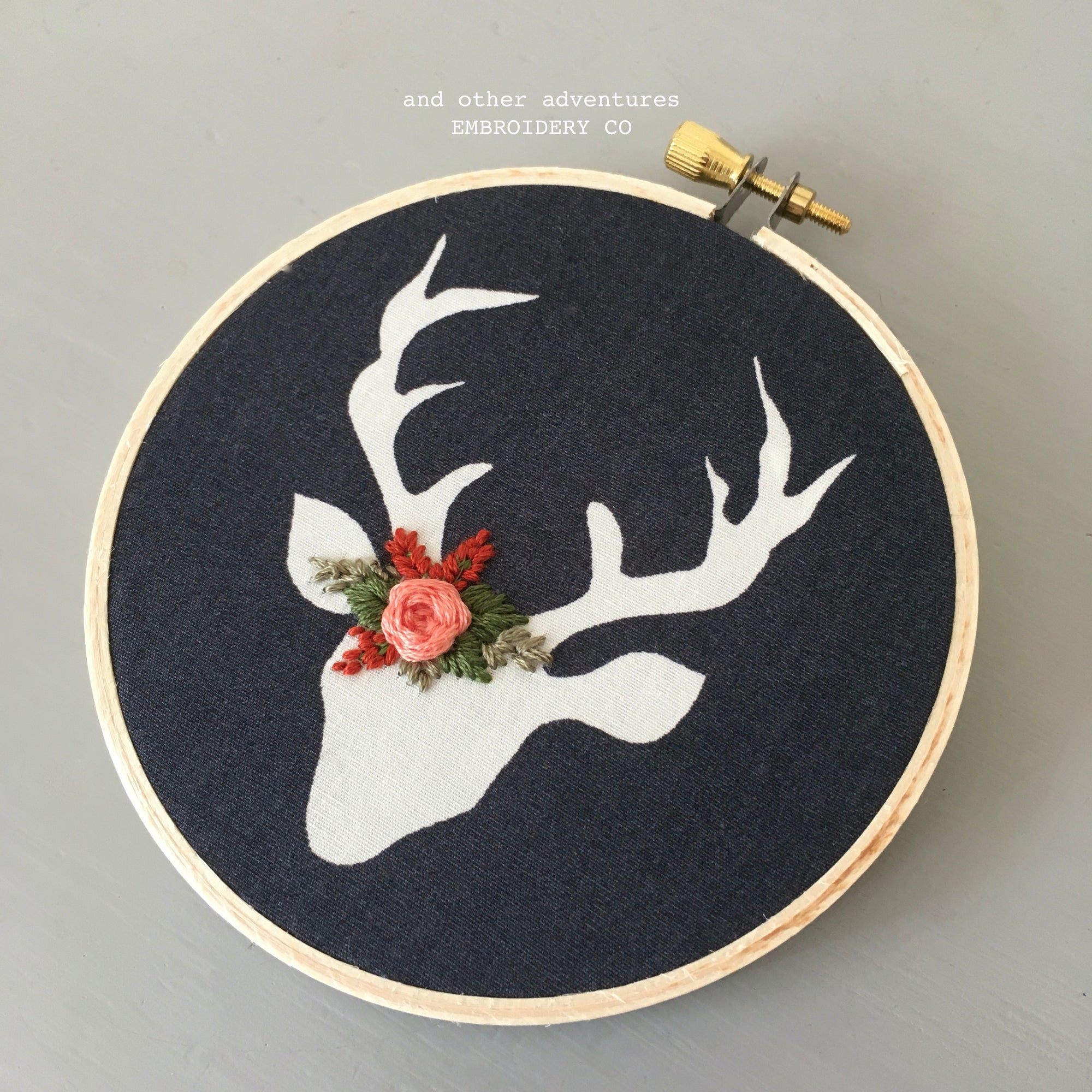 Christmas Tree Ornament - Embroidered Deer