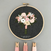 Hand Embroidered Pink Floral Bouquet by And Other Adventures Embroidery Co