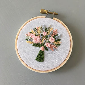 Hand Embroidered Bouquet No. 65