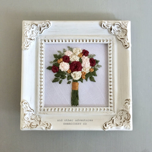 Hand Embroidered Bouquet Art by And Other Adventures Embroidery Co