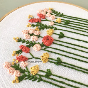 Summer Wildflower Hand Embroidery Kit by And Adventures Embroidery Co