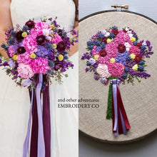 Wedding Bouquet Embroidery by And Other Adventures Embroidery Co