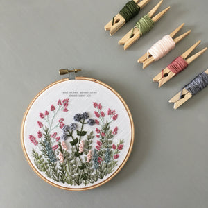 Winter Field Hand Stitched Hoop Art by And Other Adventures Embroidery Co
